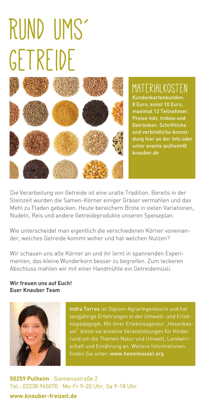 Grafik Design Bonn Kommunikationsdesign Social Media Alexandra Wolf Branding Corporate Design Logo Gestaltung Flyer Web 2.0 Text knauber anzeige Portfolio Showcase